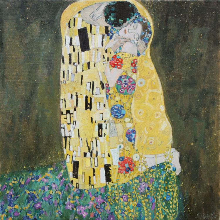 Жукова юлия поцелуй копия с картины г